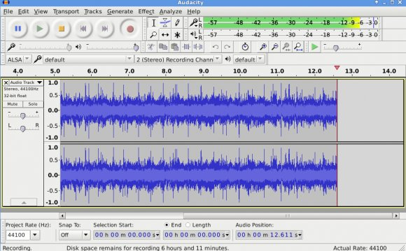 Audacity Running on Linux