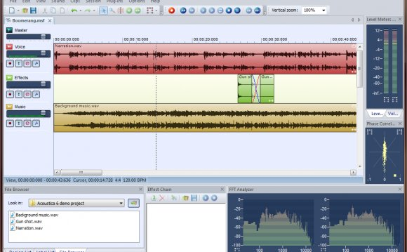 Acoustica s Multitrack Editor
