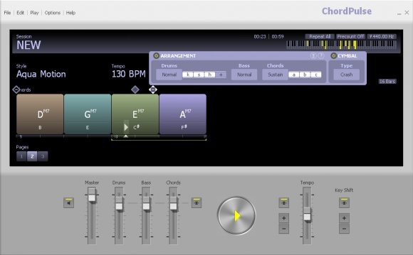 ChordPulse software - Create