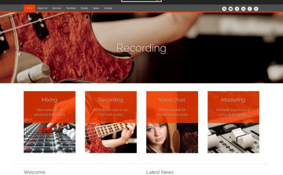The Music Studio Wordpress