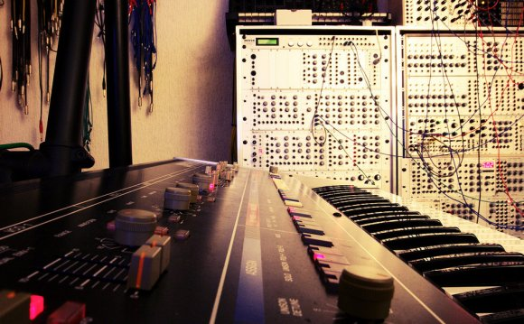 Analog synthesizer studio