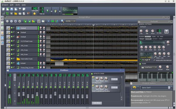Open source music recording software