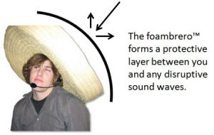 The fast E-Learning weblog - foambrero to diffuse sound waves behind you